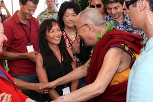 Reporter Heidi Chang and members of the news media met with the Dalai Lama in Hawaii| 2012 Photo © Eye of the Islands Photography