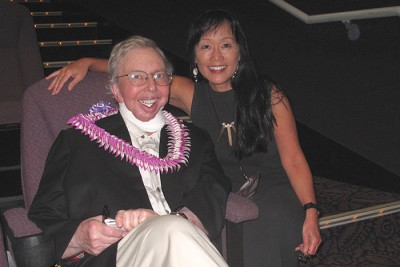 Film critic Roger Ebert and reporter Heidi Chang at the 2010 Hawaii International Film Festival
